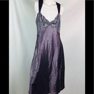 Victoria's Secret nightgown large gray lace sequin